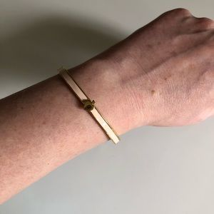Kate Spade Pink and Gold Tone Bracelet